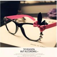 2013 eyeglasses frame Fashion Vintage Hello kitty Wood Frame Fashion Glasses Optical Frame Plain Mirror General B3