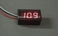 1pcs/lot DC Digital Voltmeter 0-99.9V RED (BLUE GREEN ) LED Digital Panel Meter 99.9V Voltage Meter DC Power Monitor #00001