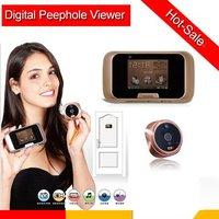 "Wholesale 2.8""TFT LED screen camera  digital door peephole viewer PIR Auto detection TF card slotVideo Recording Photo shooting"