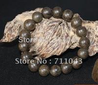 Vietnam wild submerged eaglewood hand string beads agarwood bracelet 12mm*17 natural aloes