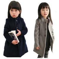 [Child Actor] children clothing winter girl coat collar kid jacket thick berber fleece warm trench girl overcoat cotton-padded