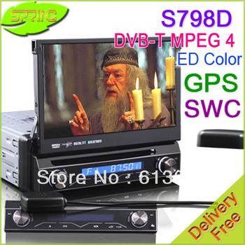 """FREE SHIPPING ES798D 1 Din Car Stereo+DVD Player GPS Navi 7"""" DVB-T 3D Menu 4 DIY color PIP  DVB-T, GPS,Bluetooth PiP,iPod"""