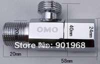 2pc/lot-bathroom basin valve-tap valve-angle valve-brass valve