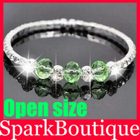 Crystal Rhinestone Bracelet Single Row Cuff Bracelet Crystal Beads Bracelet Free Shipping 12pcs/lot