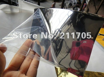 1.52*30CM HIGH QUALITY air channel GERMANY material MIRROR FILM! CHROME car vinyl wrapping film/chrome film