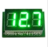 DC Mini Digital Voltmeter DC 0-100V green LED Slim Digital Panel Meter with Ear Car Motorcycle Battery Monitor Voltmeter#00006