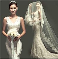hot&sexy mermaid tail romantic celebrity dress Pregnant custom made wedding dress 963 gy