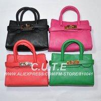Retail Girls Fashion Handbag Baby Bages Kid Children Accessorie Red Green Black Hot pink Orange0904002-BB
