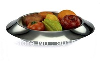 Home bar restaurant decor double walls stainless steel fuit bowl holders box