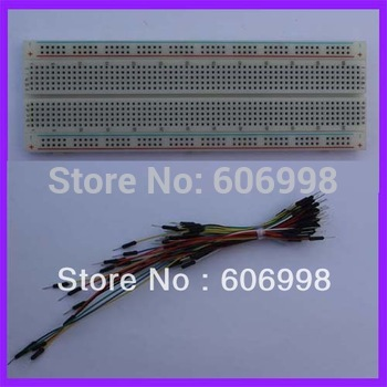 2pcs/lot 830 Tie-Point Solderless Breadboard + 65pcs Breadboard Jumper Wire Line Free Shipping Dropshipping