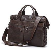 JMD Vintage Genuine real leather  Men business handbag  laptop briefcase  shoulder bag  / man  messenger  bag  JMD7122-300