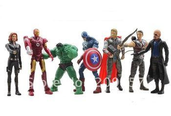 7pcs Marvel The Avengers Batman Hulk Thor Spiderman Captain America Figure Set