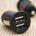 Mini Bullet Dual USB 2-Port Car Charger Adaptor for iPhone 4 4g iPod Touch and digital products 5V-2.1A