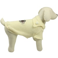 Dog Clothes Pet Dog Shirt  Wholesale Off-white Medal Sweater Pullover Dog  Apparel 2013 New Arrival