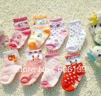 cotton children socks kid cartoon socks elegant  girl rabbit socks 10 pair/lot free shipping color random mixed order