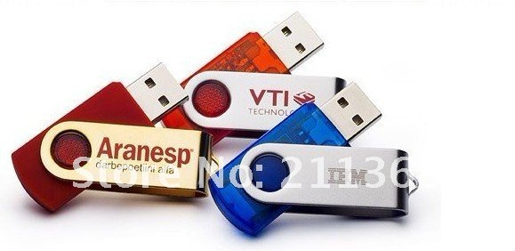 Promotion! 100pcs/lot Swivel usb stick 8GB usb flash drive 100 % Real Capacity(China (Mainland))