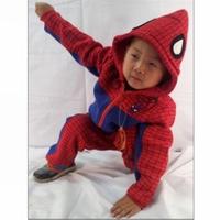 2014 Spring Autumn Casual Novelty Children roupas meninas Clothing boys Sets velvet spider man costume kids spider man coat suit