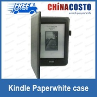 new smart case for Amazon kindle paperwhite ereader with pen carrier, sleep/week up function,100pcs/lot express free shipping
