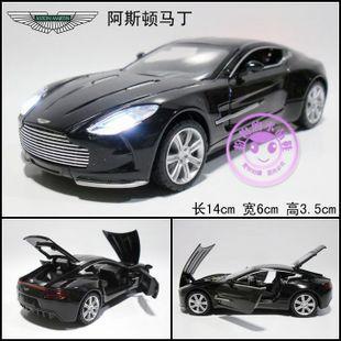 1:32 astonmartin one-77 alliage moulé sous pression modèle de voiture jouet collection avec son& b1919 lumière noire