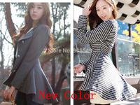 New Fashion Women Korean Dovetail Slim Wool Coat Ladies Designer Irregular Long Blazer Winter Outwear Female Suit jacket Gray