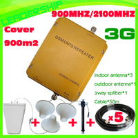 Up to 900sqm Wholesale GSM/UMTS 900mhz/2100mhz Dual band cell phone booster GSM 900mhz/UMTS/WCDMA2100mhz 3G Repeater