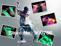 6 Color  LED flashing shoelace Best quality shining shoelace  2th luminous shoelace