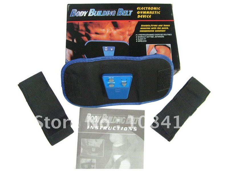 AB Gymnic Electronic Muscle Arm leg Waist Massage Belt, Body Building Belt FREE SHIPPING