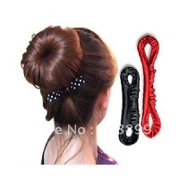 Free Shipping Magic Ribbon Hair Bud Bun Style Maker Band Hair Beauty Tool 10pcs/lot+Dropshipping
