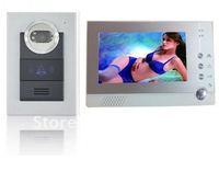 "Free shipping!!New 7"" LCD Color Monitor Video Door Phone Doorbell Intercom IRCamera DVRS ystem"