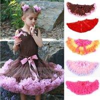 EMS Free 20 Pcs Baby Girls Chiffon Pettiskirt TuTu Skirt Children Princess Skirts Kid's Chrismas Hallow Dance Party Skirt