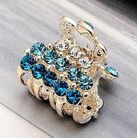 Hot selling 2014 new fashion hair accessory hairpin rhinestone hair claw fashion gripper small claws hair accessories sale