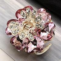 NEW 2014 HOT lady hair accessories rhinestone small hair claw crystal flower gripper paw hair accessory hair jewelry