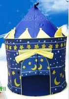 24pcs/lot Lovely Prince and Princess Palace Castle Children Play Tent Toy Indoor & Outdoor,blue and pink colors mixed