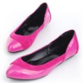 Free Shipping 2012 Popular And New Patent Leather shoes For Women Dress Shoes Leisure Flats S-F121008
