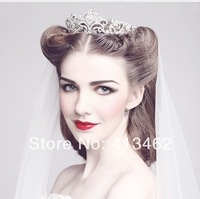 New 2013 Rhinestone Crystal Bridal Tiara Crown Vintage Quinceanera Pageant Tiaras Crowns Wedding Hair Chain Accessories WIGO0007