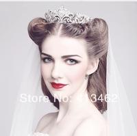 New 2013 Rhinestone Crystal Bridal Tiara Crown Vintage Quinceanera Pageant Tiaras Crowns Wedding Hair Chain Accessories WIGO0007