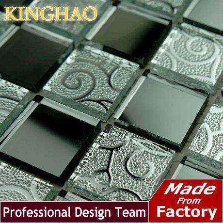 [KINGHAO] Mirror glass Mosaic sitting room KTV bars Grey lens crystal brick art ceramic tile KM2524(China (Mainland))