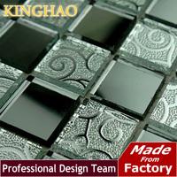 [KINGHAO] Mirror glass Mosaic sitting room KTV bars Grey lens crystal brick art ceramic tile KM2524