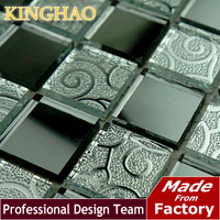 [KINGHAO] Mirror glass Mosaic sitting room KTV bars Grey lens crystal brick art ceramic tile KM2524