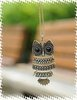 Fashion Bronze Lovely Bronze Owl With Big EyePendant Necklace