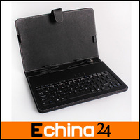"""10"""" Universal PC MID PDA Tablet USB Keyboard Leather Case with Bracket and Touch Pen Free Drop Shipping"""