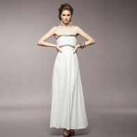 Free shipping New Fashion 2014  party  women's tony White  Dress retail  Wholesale#12459