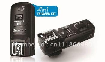 Lumox 520 2.4GHz 4 In 1 Trigger Kit Radio Wireless Trigger Starter Kit, Shutter Release, TTL pass-through for Nikon 2N 1TX+1RX