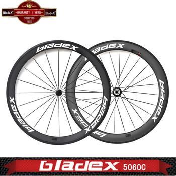 BladeX PRO ROAD CARBON WHEELS 45060C - 50/60mm Carbon Clincher Wheels;Ceramic Bearings;Basalt Braking Surface; FREE SHIPPING