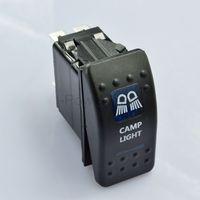 BLUE LED ILLUMINATED ROCKER SWITCH CAMP LIGHTS 12V 4X4 4WD