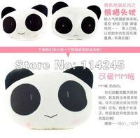 Free Shipping one pair Hot Selling 2pcs/lot Cute Lovely Panda Pattern Car Seat Neck / Head Pillow Soft Back Cushion