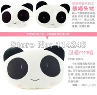 free shipping 1 pair  big size cute cartoon panda head pillow Car Seat Neck / Head Pillow <28*22cm>