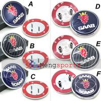 50pcs Lots SAAB Emblem Badge with Pins TOP
