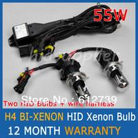 CHEAP SHIPPING 55W Best quality H4-3 HID Xenon  high and low beam auto headlights H4 BI-XENON Hi/Lo Bulb Car Lamps
