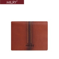 Free Shipping Fashion Top grade Milry  100% Genuine cow Leather men Wallet  Purse Money clip  Brown C0108